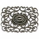 filigrain ornament 42mm oudzilver rechthoek metaal