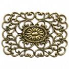 filigrain ornament 42mm oudgoud rechthoek metaal