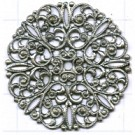 filigrain ornament 35mm oudzilver rond metaal