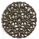 filigrain ornament 35mm brons rond metaal