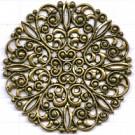 filigrain ornament 5mm oudgoud rond metaal