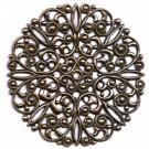 filigrain ornament 5mm brons rond metaal