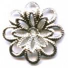 filigrain ornament 15mm zilver rond metaal