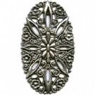 filigrain ornament 51mm oudzilver ovaal metaal