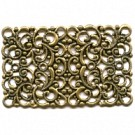 filigrain ornament 43mm oudgoud rechthoek metaal