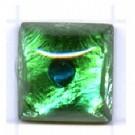 plakstenen 10mm groen vierkant glas