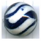 kralen 12mm blauw rond porselein