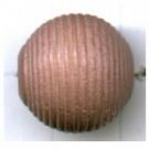 ribbelkralen 16mm bruin rond hout