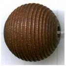 ribbelkralen 16mm bruin rond hout kleurnummer 33