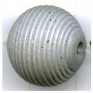 ribbelkralen 16mm grijs rond hout