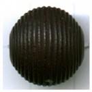 ribbelkralen 16mm zwart rond hout