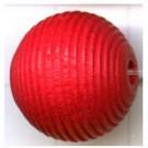 ribbelkralen 16mm rood rond hout