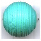 ribbelkralen 16mm turquoise rond hout
