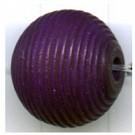 ribbelkralen 16mm paars rond hout kleurnummer 95