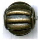 ribbelkralen 15mm oudgoud rond kunststof
