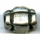 ribbelkralen 7mm oudzilver rechthoek tin