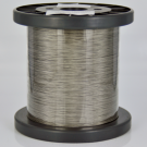 Nylon coated staaldraad stainless steel rijgdraad 0,45mm zilver rond