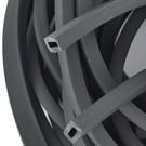 rijgsnoer 10mm zwart rechthoek kunststof