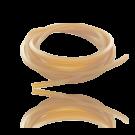 rijgsnoer 4mm vierkant rubber pvc bruin beige