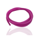 rijgsnoer 4mm vierkant rubber pvc roze fuchsia