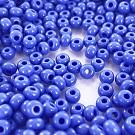 Rocailles borduurkralen glas 6/0 blauw opaque