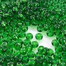 Mooie rocailles borduurkralen glas 6/0 groen