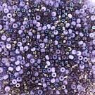 Rocailles borduurkralen glas 6/0 mix paars