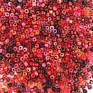 Rocailles borduurkralen glas 6/0 mix rood