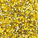 Rocailles borduurkralen glas 6/0 mix geel