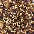 Rocailles borduurkralen glas 6/0 mix bruin