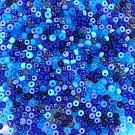 Rocailles borduurkralen glas 6/0 mix blauw