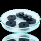 Schijfjes leer 20mm zwart rond