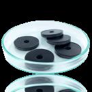 Schijfjes leer 24mm zwart rond