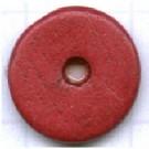 schijven 12mm rood rond keramiek