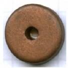 schijven 12mm bruin rond keramiek kleurnummer 607