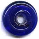 schijven 25mm blauw rond glas kleurnummer 3010