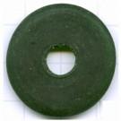 schijven 30mm groen ovaal glas