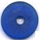 schijven 30mm blauw ovaal glas kleurnummer 6005