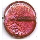 schijven 35mm roze rond glas