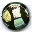schijven 28mm zwart rond glas