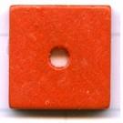 kralen 14mm oranje schijf vierkant hout