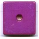 kralen 14mm paars schijf vierkant hout