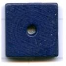 kralen 14mm blauw schijf vierkant hout
