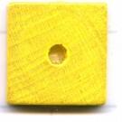 kralen 14mm geel schijf vierkant hout