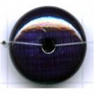 kralen 20mm blauw rond schijf hout kleurnummer 6032