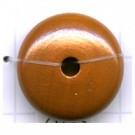 kralen 20mm bruin rond schijf hout