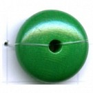 kralen 20mm groen rond schijf hout