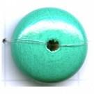 kralen 20mm turquoise rond schijf hout