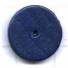 kralen 14mm blauw rond schijf hout