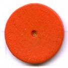 kralen 18mm oranje rond schijf hout